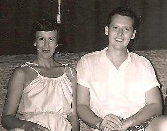 Newlyweds, 1953, after a day of boating