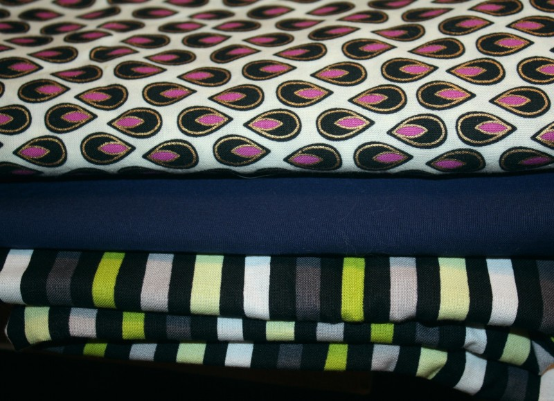 black, stripe with neon, navy, hot pink abstract