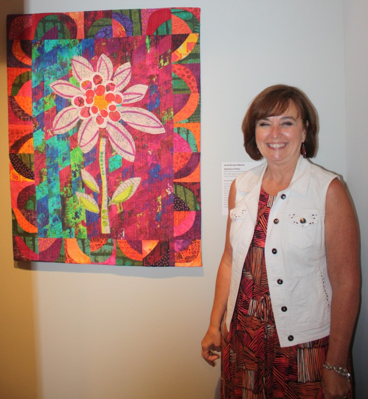 Sonia Brown Martin with her work