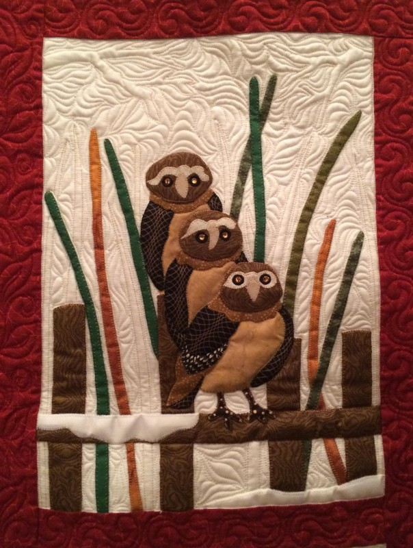 Ruth McCormick's quilting on an Audubon Quilt