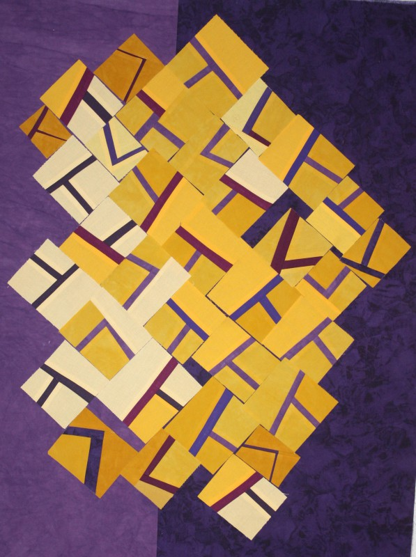 Cluster of blocks on shades of purple - it's OK, nothing special