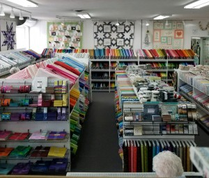 Just one of the rooms in Waynesville's Fabric Shack