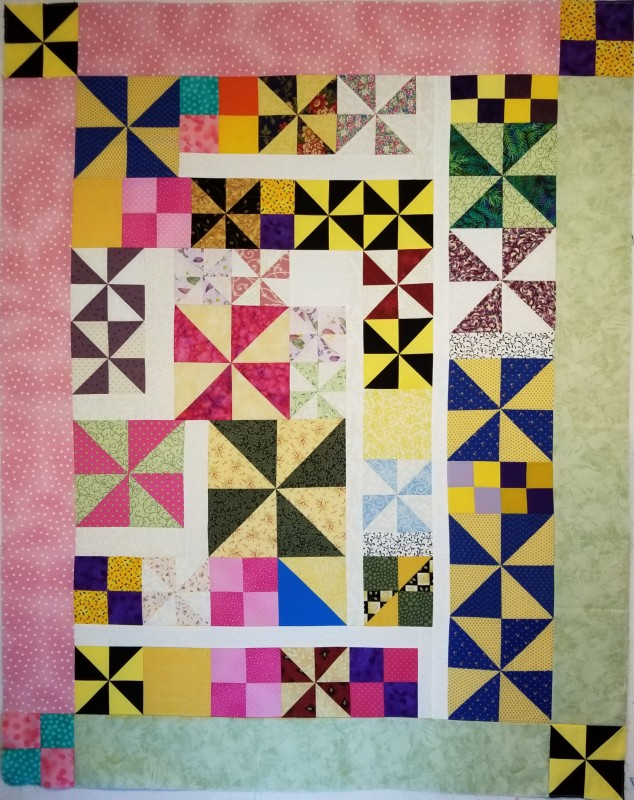 These were the blocks I was trying to put together at the beginning of the month. Turned out cute!