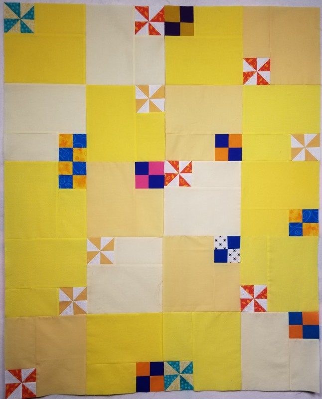 Modern baby quilt, and was playing with layout while still in 2 very large columns
